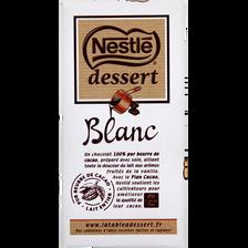 Chocolat blanc NESTLE Dessert, 180g