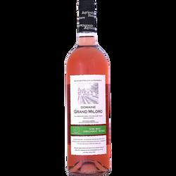 Vin IGP rosé de pays du Gard bio Domaine du Grand Milord, bouteillede 75cl