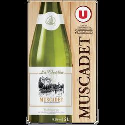 Vin blanc AOP Muscadet La Chatelière U, fontaine à vin de 5l