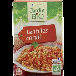Lentilles corail bio JARDIN BIO, paquet de 500g