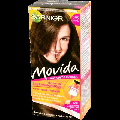 Coloration crème ton sur ton MOVIDA, châtain n°35