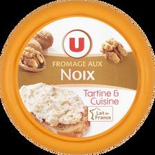 Fromage pasteurisé à tartiner aux noix U, 25% de MG, 150g