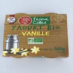 Yaourt bio framboise 500g FERME COLLET