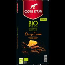 Tablette de chocolat noir orange corsé Bio COTE D'OR, soit 90g