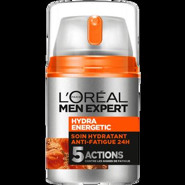 L'Oréal Soin Hydratant Anti-fatigue Pour Homme Hydra Energetic Men Expert, 50ml
