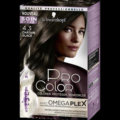 Coloration châtain glacé 4.3 PRO COLOR