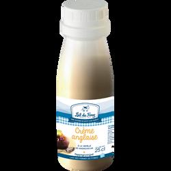 Crème anglaise à la vanille de Madagascar LAIT DU FOREZ, bouteille de25cl