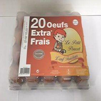 OEUFS EXTRA FRAIS X20