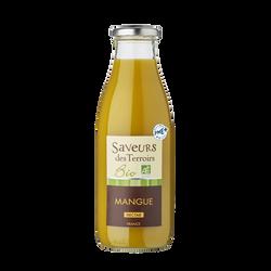 Nectar de mangue bio SAVEURS DES TERROIRS, bouteille de 75cl