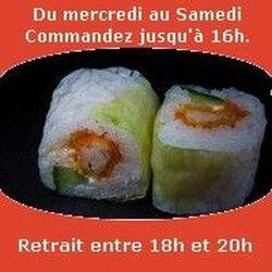 Spring rolls 6 pièces, Saumon cheese pignons de pin, SUSHI MONT BLANC