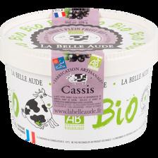 Sorbet cassis origine France bio LA BELLE AUDE pot 378g