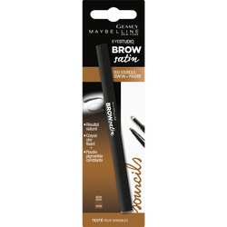 """Crayon à sourcils """"Brow satin"""" duo cryon + poudre n°02 medium brow - blister MAYBELLINE"""