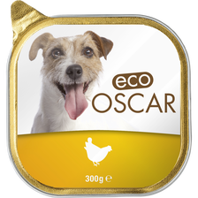 Pâté au poulet pour chien eco oscar, barquette de 300g