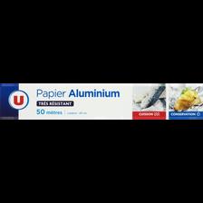 Aluminium U, rouleau de 50m x 0,29m