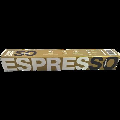 Café ristretto BIO ESPRESSO, 10 capsules soit 50g