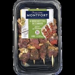 Brochette canard herbes de provence, MAISON MONTFORT, France, 4 pièces, Barquette 300g