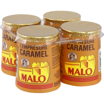 Emprésuré sucré au caramel, MALO, pot, carton, 4x125g