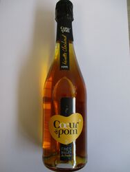FINES BULLES FRUITS pomme et vreinette clochard COEUR DE POM bouteille de 75cl