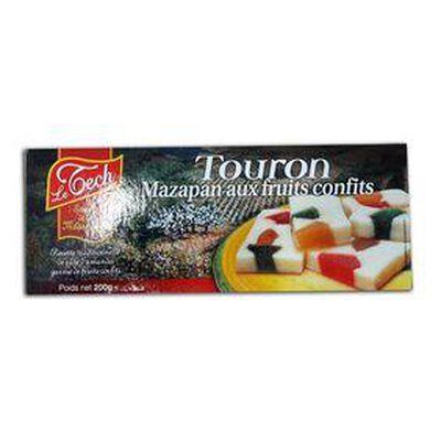 TOURON MAZAPAN, aux fruit confits, LE TECH 200G