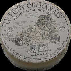 Le Petit Orléanais nature fromage au lait pasteurisé à pâte molle, 20%de MG, JACQUIN, 250g