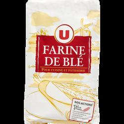 Farine de blé pâtissière T45 U, paquet de 1Kg