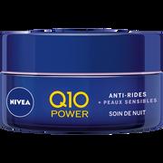 Nivea Soin De Nuit Pour Le Visage Q10+ Sensitive Nivea, Pot De 50ml