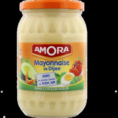 Mayonnaise nature sans conservateur AMORA, bocal de 725g