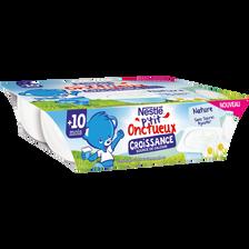 Nestlé P'tit Onctueux Nature Croissance Dès 10 Mois Nestle, 6x60g