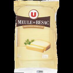 Fromage au lait pasteurisé Meule du Besac U, 32% de MG, portion de 250g
