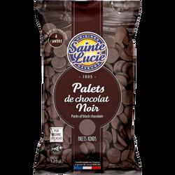 PALETS DE CHOCOLAT NOIR 125G NOUVEAU