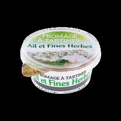 Fromage à tartiner Ail et Fines Herbes au lait pasteurisé 21%MG, 150g