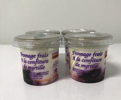 Fromage frais à la confiture de myrtille,  Areilladou 4X100g
