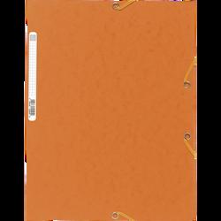 Chemise à élastique 3 rabats EXACOMPTA, 24x32 cm, carton, orange
