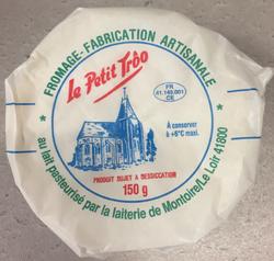 Le petit Trôo, au lait pasteurisé de vache, 20%mg, 150g