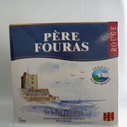 Vin de pays charentais rouge IGP brique 3Litres Père Fouras
