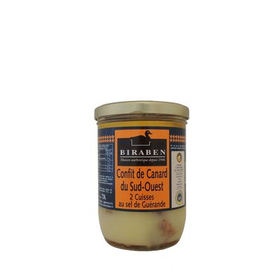 Biraben, 2 Cuisse de Canard confites, Bocal 720g