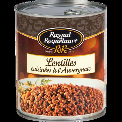 Lentilles cuisinées à l'Auvergnate RAYNAL&ROQUELAURE, boîte de 820g