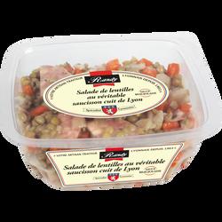 Salade de lentilles au véritable saucisson cuit de Lyon sauce Beaujolais RANDY, x1, 300g