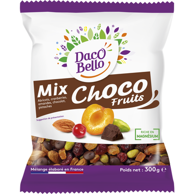 Mix choco fruits, sachet, 300g