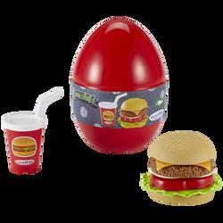 Oeufs fast food-dès 18 mois-modèles assortis:donuts cupcake,hamburgersoda,nuggets soda-origine france