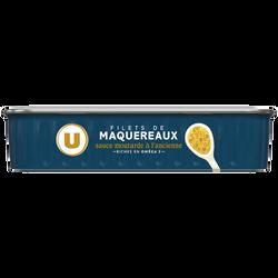 Filets maquereaux à la moutarde ancienne U, boîte de 169g
