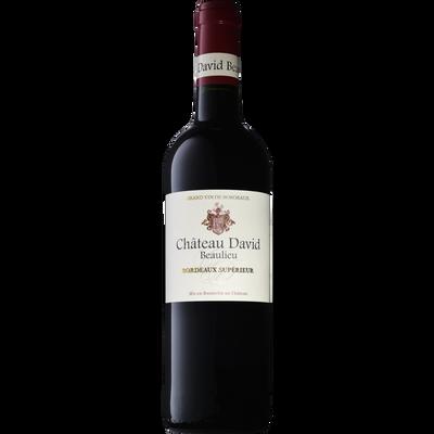 """Vin rouge AOP Bordeaux supérieur """"CHATEAU DAVID BEAULIEU"""", bouteille de 75cl"""