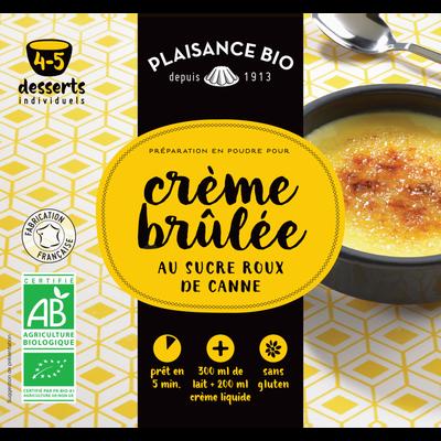 Préparation pour crèmes gourmandes crème brûlée bio PLAISANCE BIO, sachet de 40g