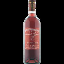 Bordeaux Clairet AOP rosé CLAIRET de Quinsac , bouteille de 75CL