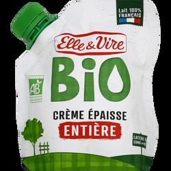 Crème entière épaisse bio 30%mg ELLE & VIRE poche 33cl