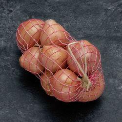 Oignon rose de Bretagne, calibre 50/70, France, tresse 1kg