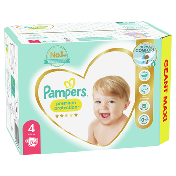 Pampers Couches Premium Protection Langes Geant Maxi Pampers T4 X74