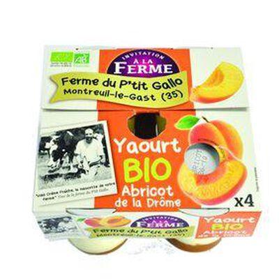Yaourt BIO Abricot (4*125g) Ferme d