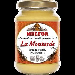 Moutarde mi forte miel de fleurs et vinaigre MELFLOR, bocal de 200g