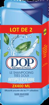 Dop Shampooing Très Doux Anti-pelliculaire Dop Flacon 2x400ml